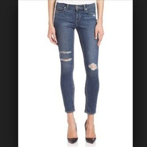 PAIGE Distressed Verdugo Ankle Skinny Jeans 30